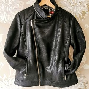 Desigual faux leather Biker jacket size 46